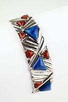 NEW DESIGNER Sterling Silver Lapis Red Jasper Accent Cuff Bracelet
