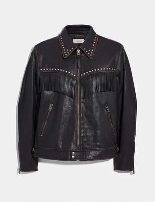 Coach Western Embellished Jacket