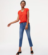 LOFT Tall Modern Kick Crop Jeans in Vivid Indigo Wash
