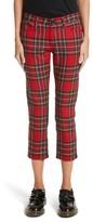 Junya Watanabe Women's Tartan Front Skinny Crop Pants