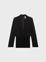 DKNY Notch Collar Jacket With Back Zip