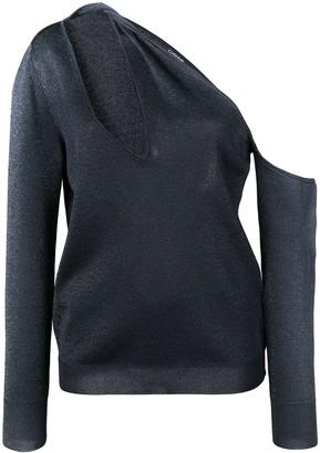 Cushnie one shoulder sweater