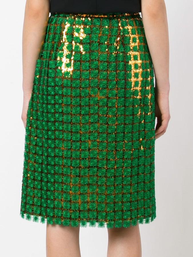 Marco De Vincenzo sequin skirt