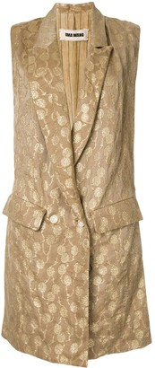 UMA WANG Embroidered Sleeveless Coat