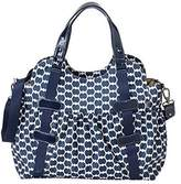 OiOi Tote Diaper Bag, Indigo/White by