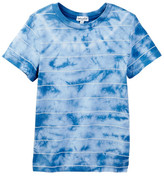 Splendid Short Sleeve Crew Tie Dye Stripe Tee (Little Boys)