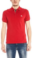 Burberry Men's Check Cotton Pique Logo Slim Fit Polo T-shirt M