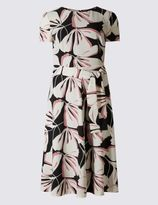 Marks and Spencer Floral Print Short Sleeve Skater Dress