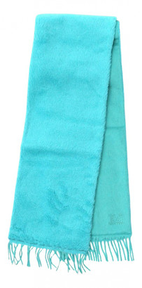 Max Mara Turquoise Wool Scarves