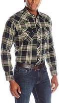 Wrangler Men's Western Lightweight Flannel Shirt