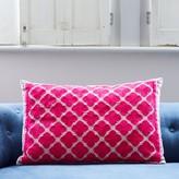 Graham and Green Phulkari Rectangular Cushion In Pink