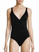 Shoshanna Twist One-Piece Swimsuit