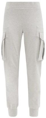 Norma Kamali Cargo-pocket Cotton-blend Jersey Track Pants - Light Grey