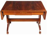 One Kings Lane Vintage 1930s Regency-Style Library Table - Blink Home Vintique - brown