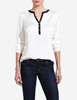 The Limited Contrast Collar Blouse