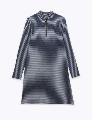 Marks and Spencer Zipped Stripe Dress (3-16 Years)