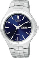 JCPenney Citizen Quartz Citizen Mens Blue Dial Stainless Steel Watch BF0590-53L