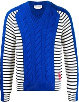 Alexander McQueen v-neck paneled knitted jumper