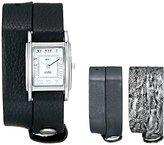 La Mer Women's LMGB1002 Gift Box Collection Gunmetal,Black,Silver Tie Dye Watch