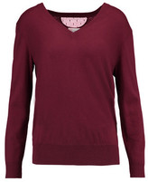 RED Valentino Mesh-Paneled Cashmere And Silk-Blend Sweater