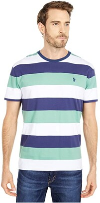 Polo Ralph Lauren Classic Fit Crew Neck Tee (Powder Blue Multi) Men's Clothing