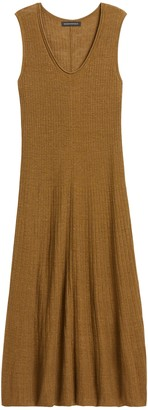 Banana Republic Petite Linen-Blend Sweater Dress