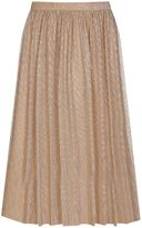 Yumi Shimmer Pleated Lurex Skirt