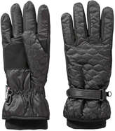 Joe Fresh Women's Quilted Winter Gloves, Black (Size S/M)