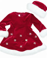 Bonnie Baby Set, Baby Girls Santa 2-Piece Hat and Dress