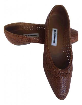 Jil Sander Brown Leather Heels