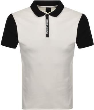 Armani Exchange Short Sleeved Polo T Shirt White