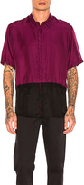 Robert Geller Two Toned Taped Shirt in Purple. - size 48 (also in 52)
