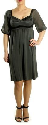 Sand Small Grey Viscose and Elastane Verdodo Dress - Grey/Black