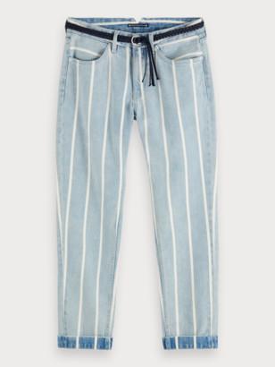 Scotch & Soda Bandit - Indigo Stripe Boyfriend fit jeans   Women