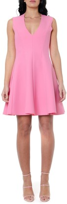 MSGM Pink Wide Skirt Dress