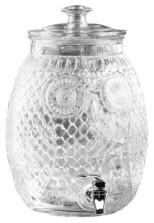 Jay Imports Stylesetter Owl Glass Beverage Dispenser 2.3 Gallons