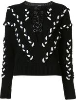Yigal Azrouel lace up cable jumper