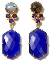 Kanupriya Blue Chalcedony and Multigemstone 18K Gold-Plated Earrings