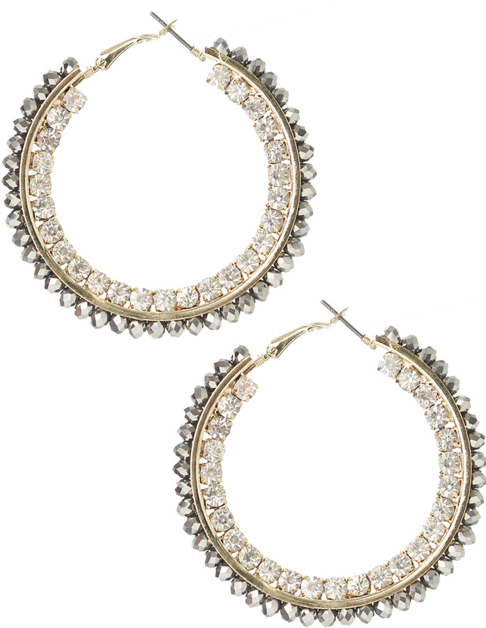 Arden B Metallic Beaded Hoop
