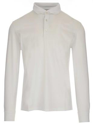 Ermenegildo Zegna Classic Long-Sleeve Polo Shirt