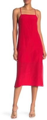 Madewell Silk Cross Back Midi Slip Dress
