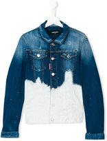 DSQUARED2 bleached denim jacket - kids - Cotton/Spandex/Elastane - 16 yrs