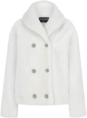 Balmain Shearling Coat