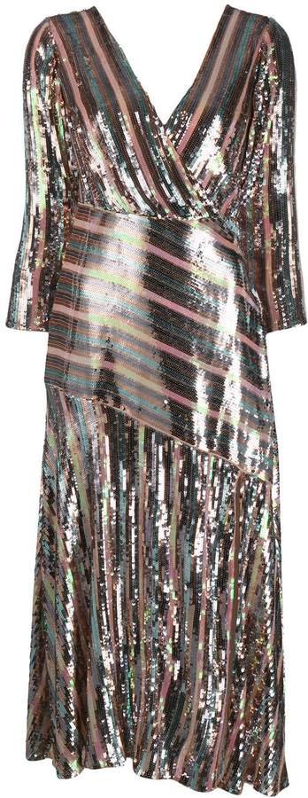 Rixo Tyra sequinned midi dress