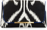 Brian Atwood Natalia Printed Clutch Bag, Black/Multi