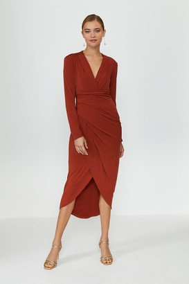 Coast Jersey Wrap Front Dress