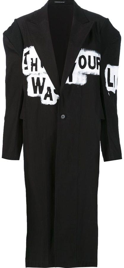 Yohji Yamamoto long painted coat