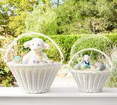 Pottery Barn White Sabrina Collapsible Handle Easter Basket