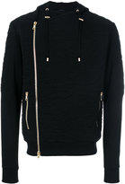 Balmain camouflage embroidered hoodie - men - Cotton/Polyester - M