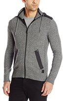 Buffalo David Bitton Men's Wafinter Long Sleeve Zip Up Hooded Sweater